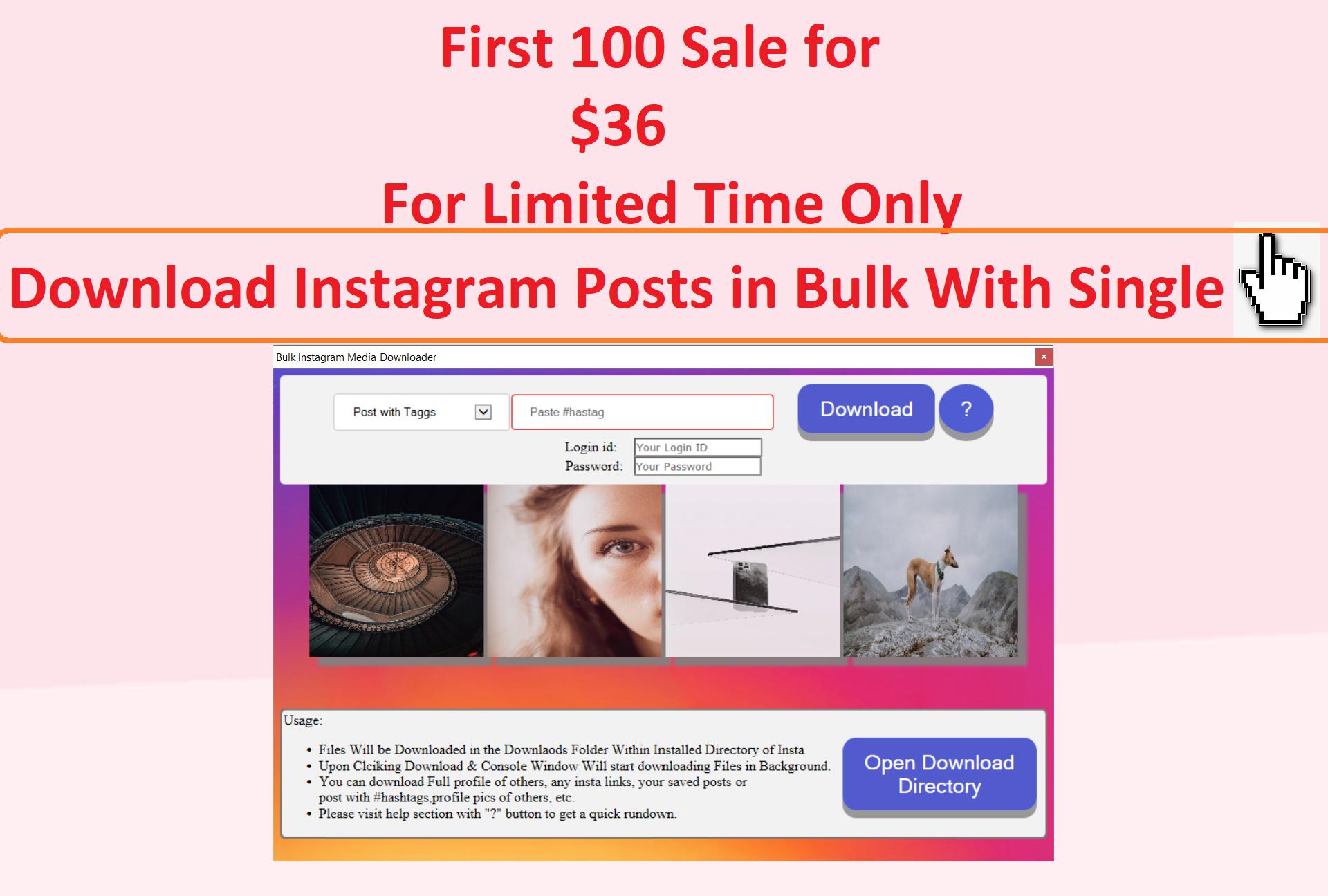 bulk instagram media downlaoder